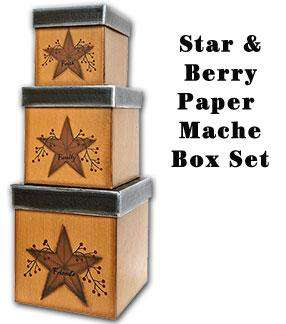 3/Set, Star & Berry Boxes Faith, Family, Friends CWI+