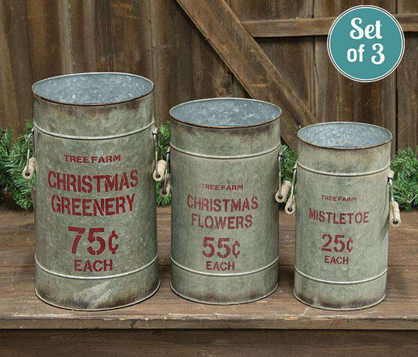 '+3/Set, Tree Farm Buckets Tabletop & Decor CWI+