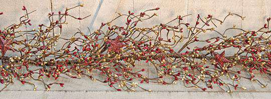 4 1/2' B&G Holiday Stars Pip Garland Pip Berry CWI Gifts