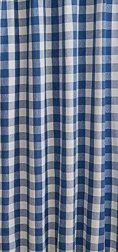 "Wicklow Check Cotton Blue Shower Curtain 72"" x 72"" Park Designs"