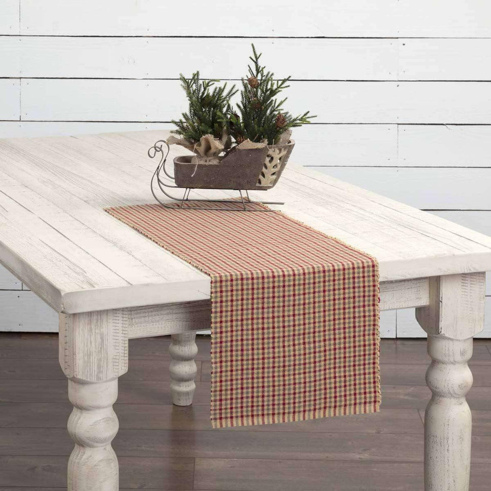 Jonathan Plaid Ribbed Runner 13x36 VHC Brands