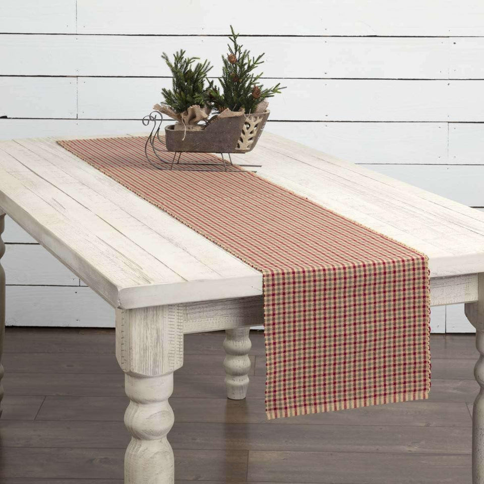 Jonathan Plaid Ribbed Runner 13x72 VHC Brands