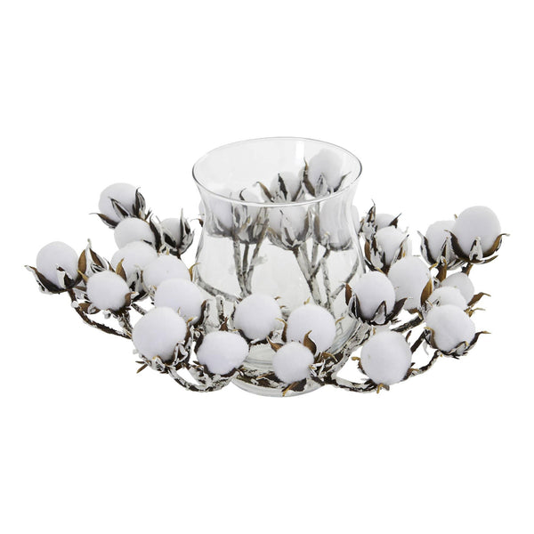 Cotton Artificial Arrangement Candelabrum