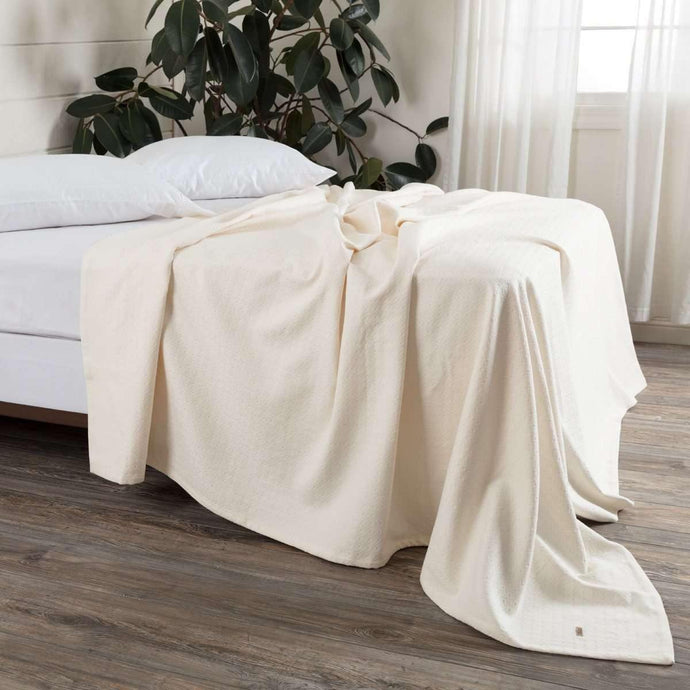 Serenity Creme Cotton Woven Blanket VHC Brands