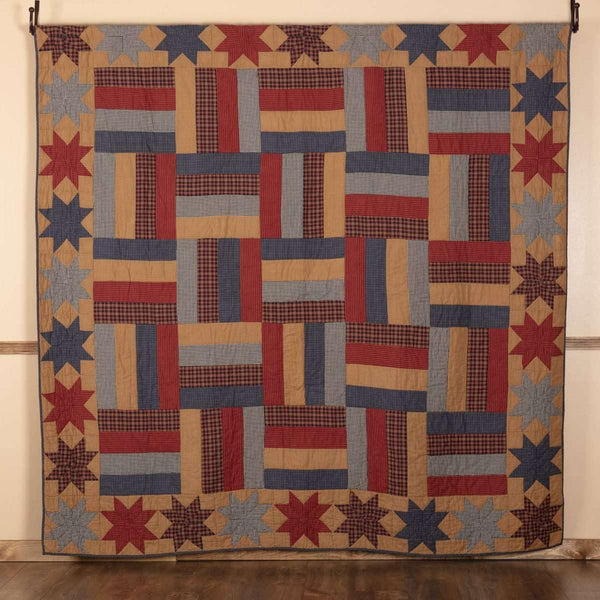 National Quilt Museum Kindred Stars and Bars Quilt 90Wx90L VHC Brands online