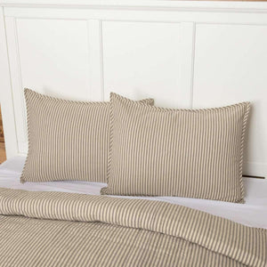 Sawyer Mill Charcoal Ticking Stripe Standard Sham 21x27 VHC Brands
