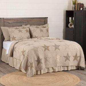 Sawyer Mill Star Charcoal Queen Quilt 90Wx90L VHC Brands