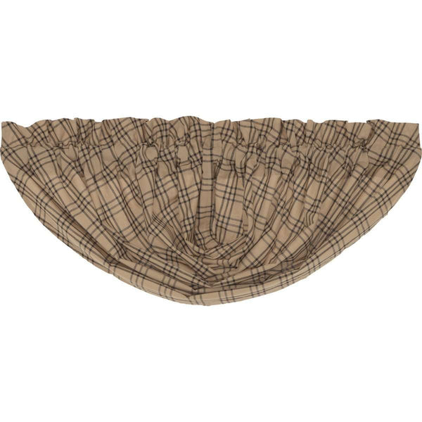 Sawyer Mill Charcoal Plaid Balloon Valance Curtain VHC Brands - The Fox Decor