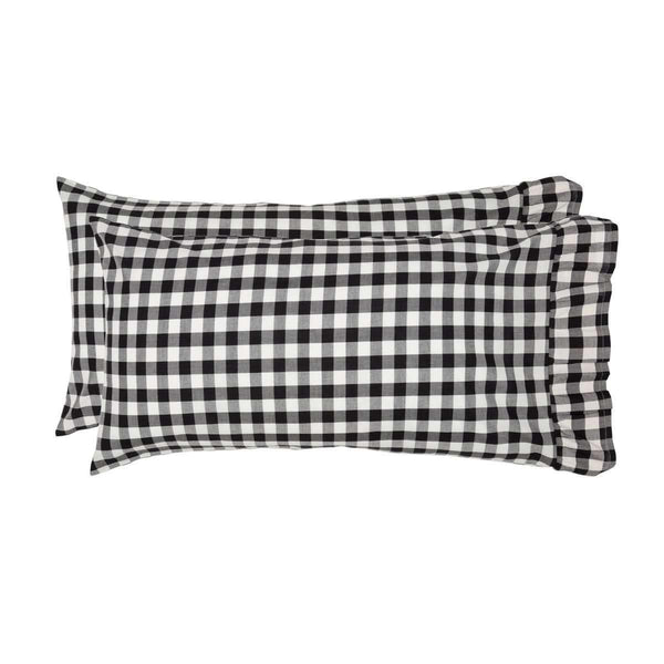 Annie Buffalo Black Check King Pillow Case Set of 2 21x40 VHC Brands