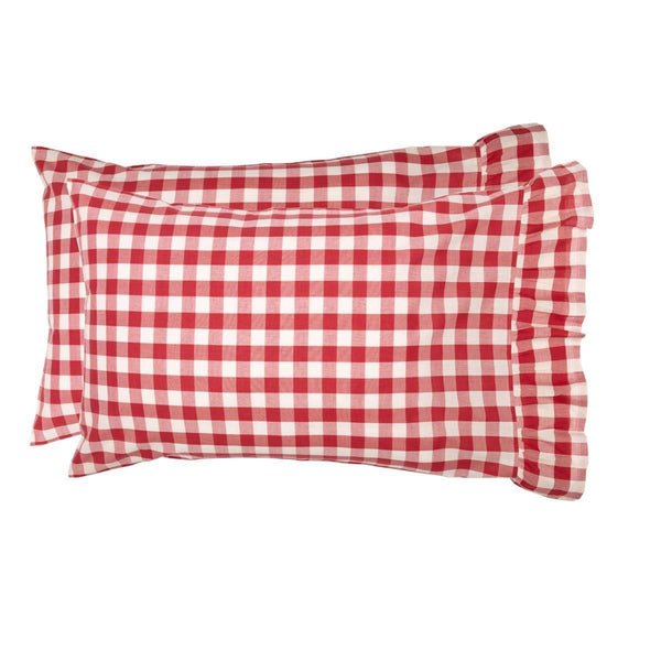 Annie Buffalo Red Check Standard Pillow Case Set of 2 21x30 VHC Brands