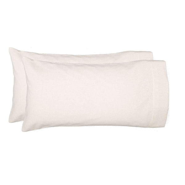 Burlap Antique White King Pillow Case Set of 2 21x40 VHC Brands