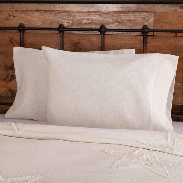 Burlap Antique White Standard Pillow Case Set of 2 21x30