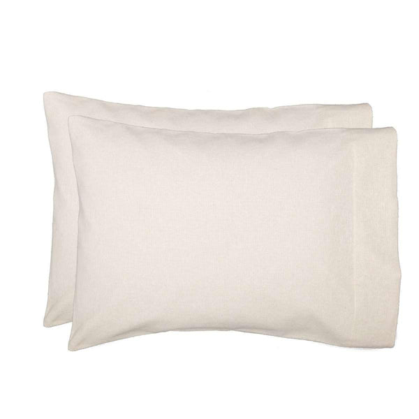 Burlap Antique White Standard Pillow Case Set of 2 21x30 VHC Brands