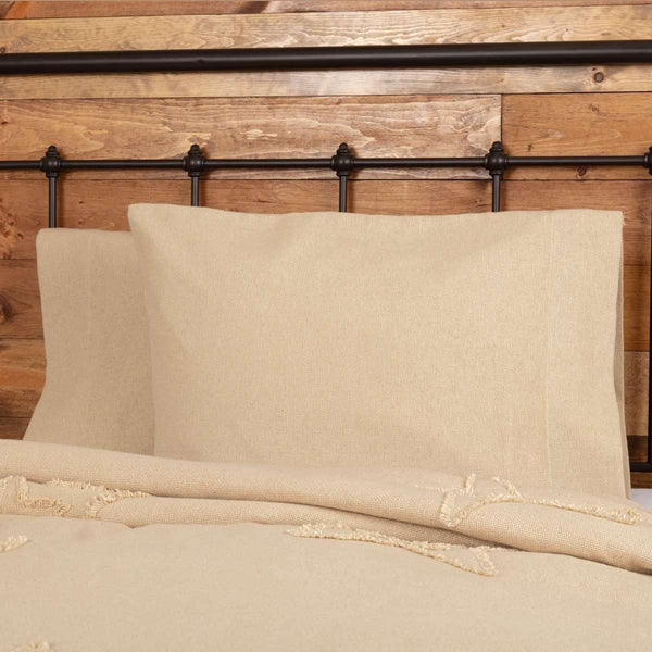 Burlap Vintage Standard Pillow Case Set of 2 21x30