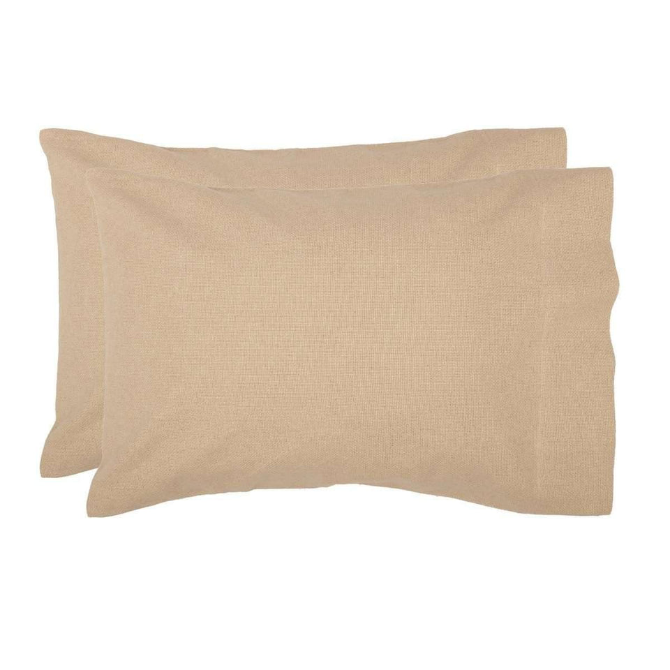 Burlap Vintage Standard Pillow Case Set of 2 21x30 VHC Brands