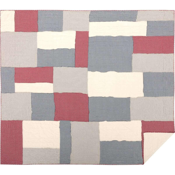 Hatteras Patch California King Quilt 130Wx115L VHC Brands full