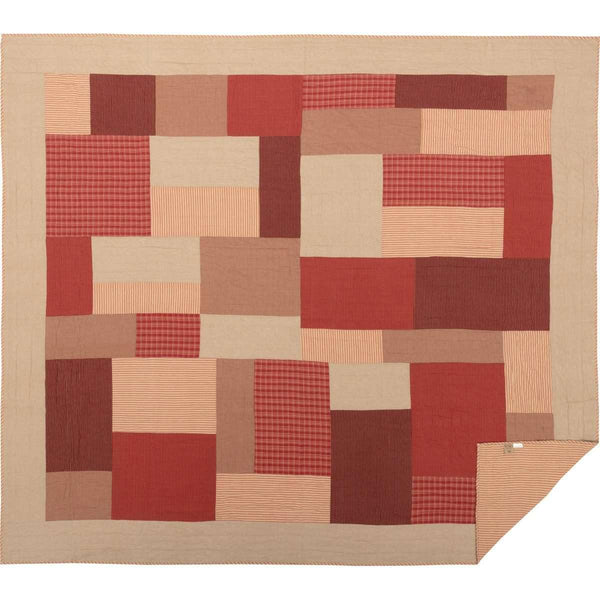 Rory Schoolhouse Red California King Quilt 130Wx115L VHC Brands online