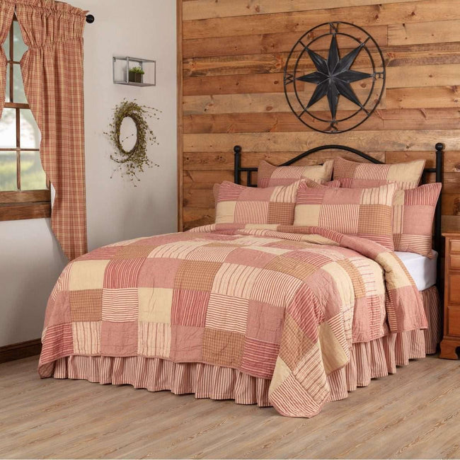 Sawyer Mill Red King Quilt 105Wx95L VHC Brands