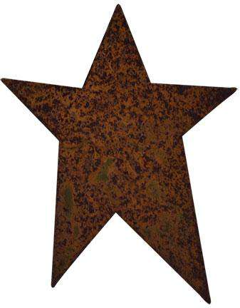 "50/pkg, Rusty Tin Folk Stars, 4"" Rusty Tin Shapes CWI+"