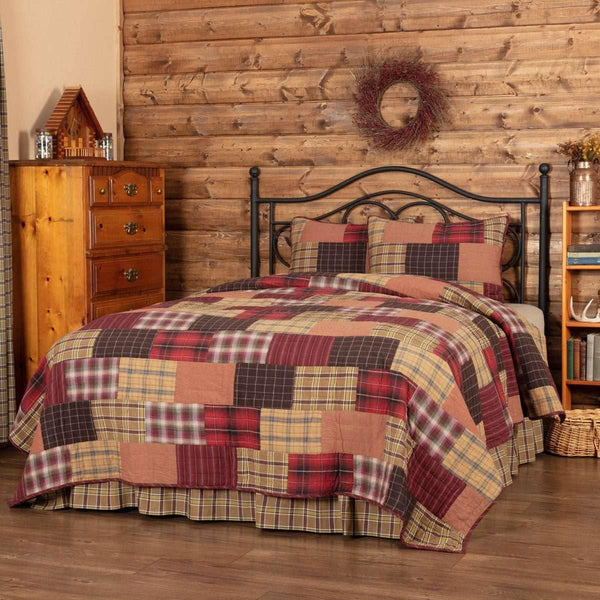 Wyatt California King Quilt Set; 1-Quilt 130Wx115L w/2 Shams 21x37 VHC Brands