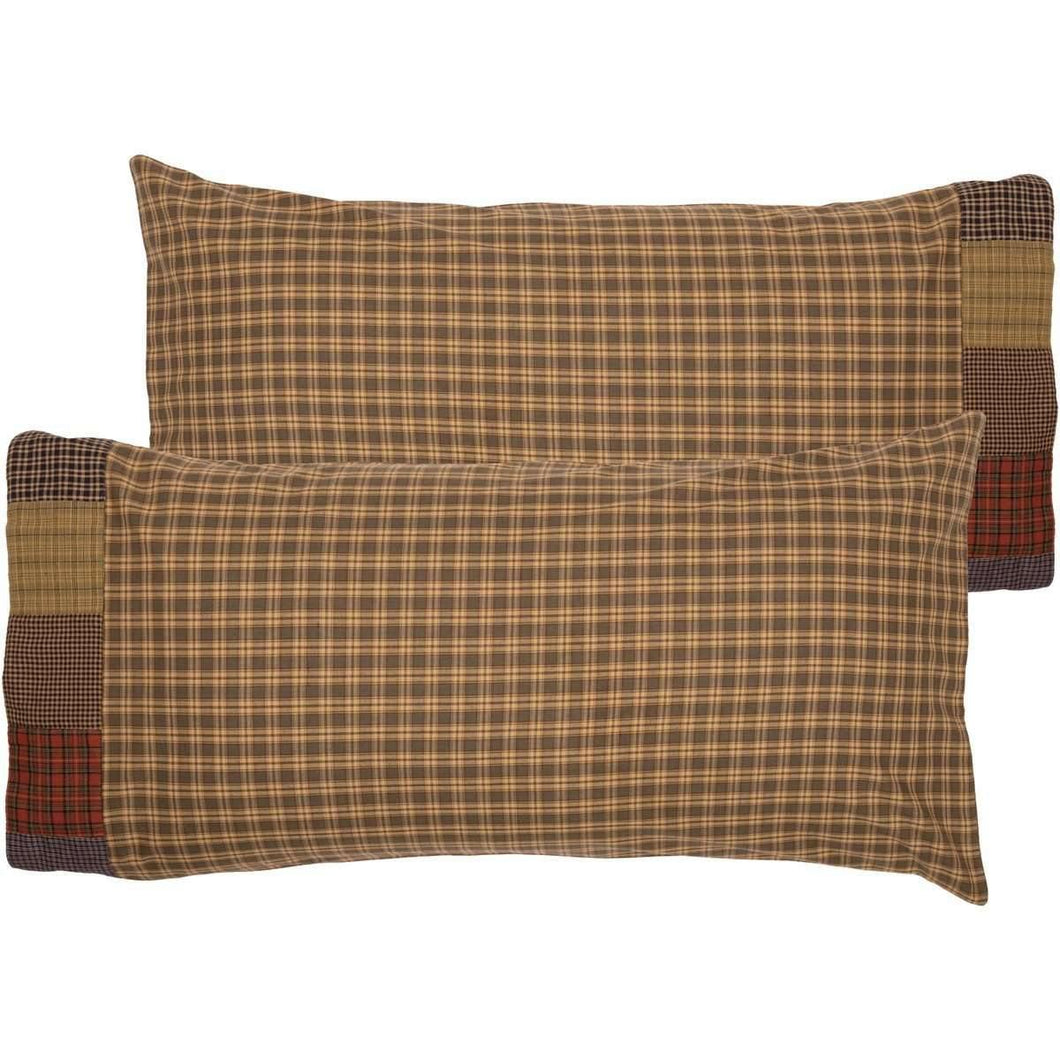 Cedar Ridge King Pillow Case with Block Border Set of 2 21x40 VHC Brands