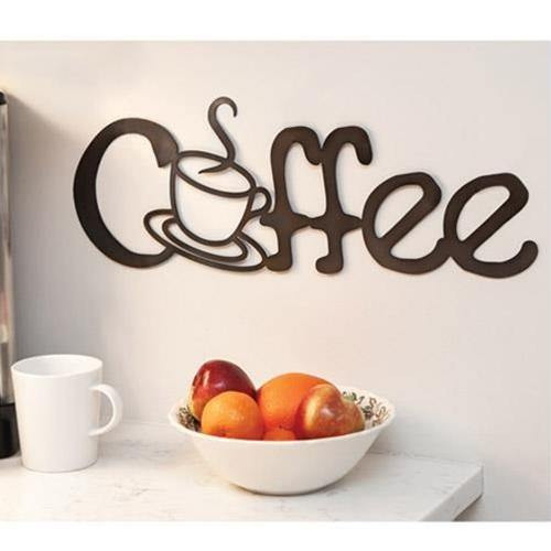 Coffee Metal Cutout Sign