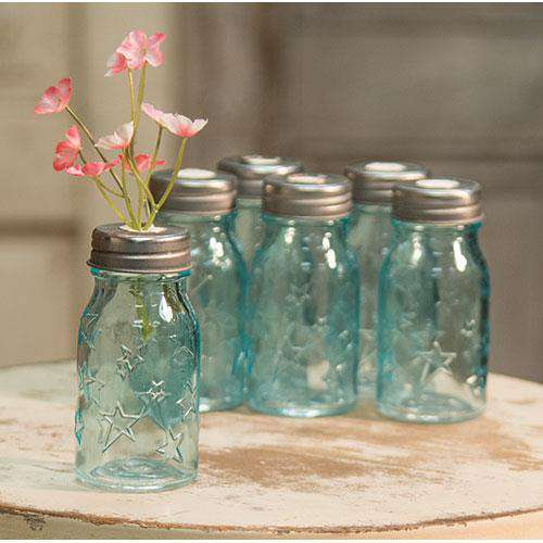 6/Set, Blue Glass Bottles Glass CWI+