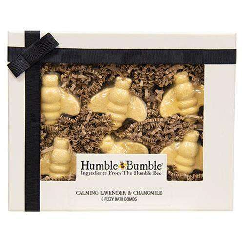6/Set, Bumble Bee Lavender & Chamomile Fizzy Bath Bombs General CWI+