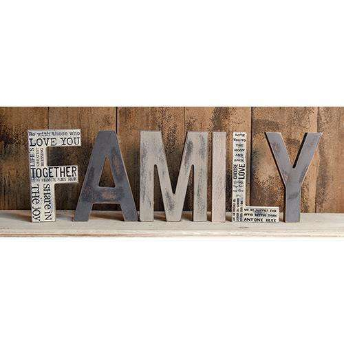 6/set, Family Letters Family & Friends Signs CWI+