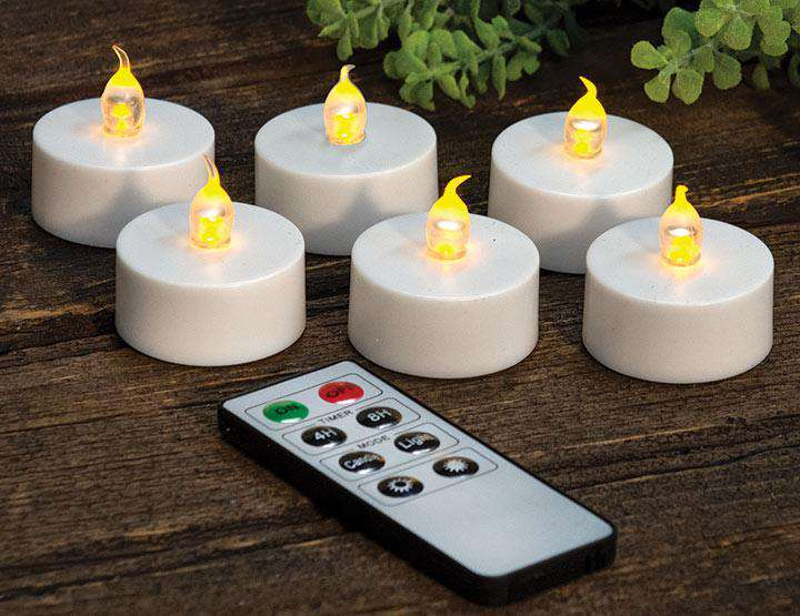 6/Set, Remote Control LED Tealights General CWI+