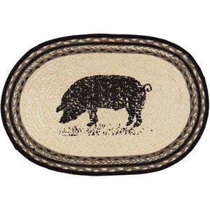 6/Set, Sawyer Mill Pig Placemats Tabletop CWI+