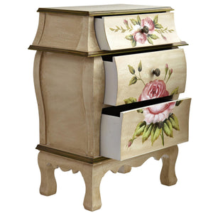 Antique Night Stand W/Floral Art