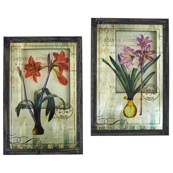 Framed French Floral Art Prints (Set Of 2)