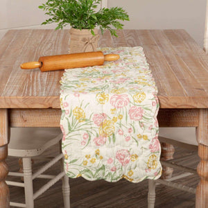 Madeline Floral Quilted Runner 13x48 VHC Brands