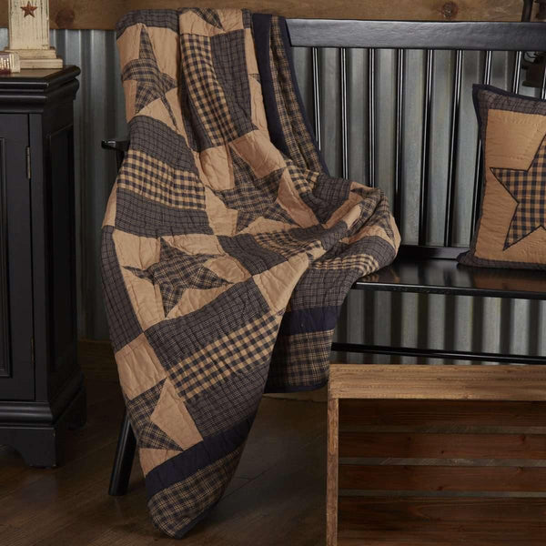 Teton Star Quilted Throw 60x50 VHC Brands