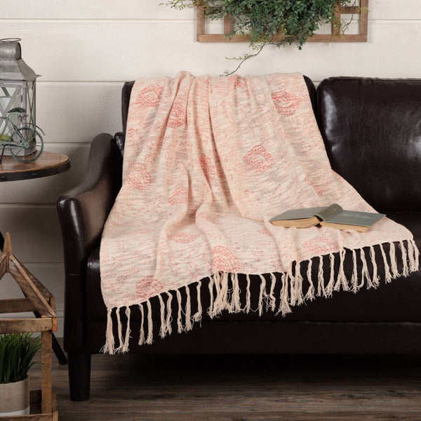 "Genevieve Printed Woven Throw 60"" x 50"" VHC Brands - The Fox Decor"