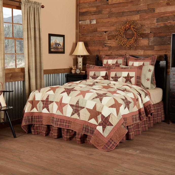 Abilene Star Luxury King Quilt 120Wx105L VHC Brands