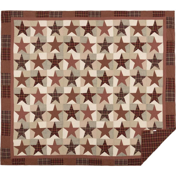 Abilene Star Luxury King Quilt 120Wx105L VHC Brands folded