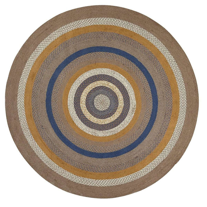 Riverstone Jute Braided Round Rug 8FT - The Fox Decor