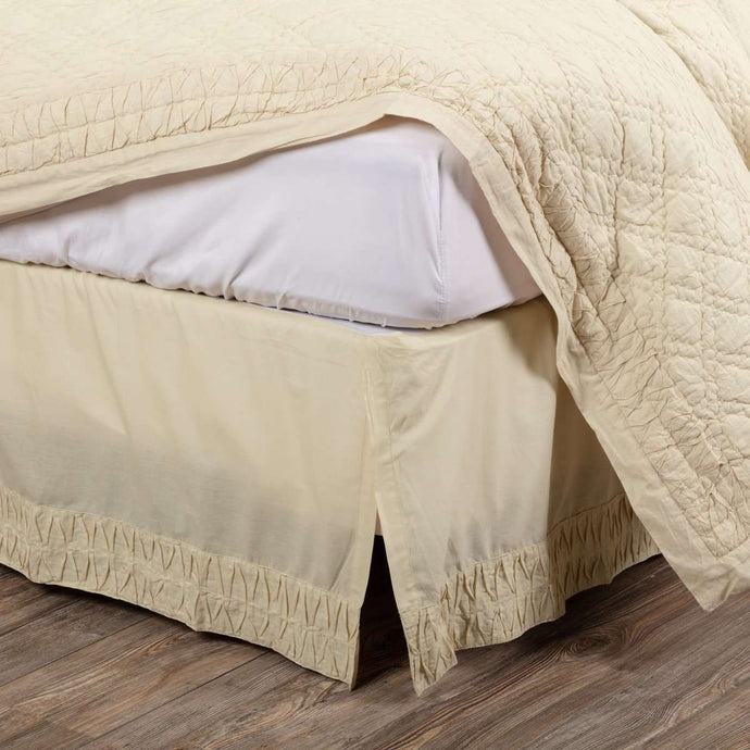 Adelia Creme Bed Skirts VHC Brands - The Fox Decor