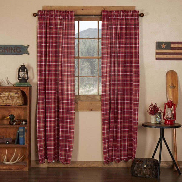 "Braxton Scalloped Panel Country Style Curtain Set of 2 84""x40"" - The Fox Decor"