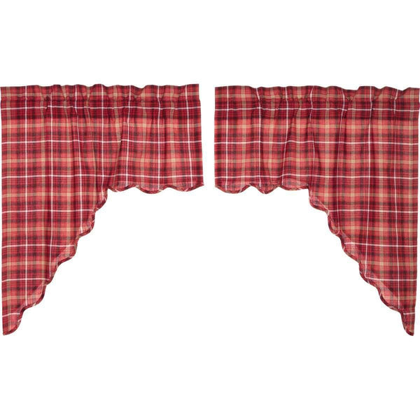 Braxton Scalloped Swag Curtain Set of 2 36x36x16