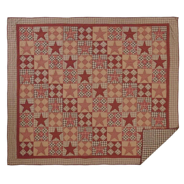 Dawson Star Luxury King Quilt 120Wx105L VHC Brands online