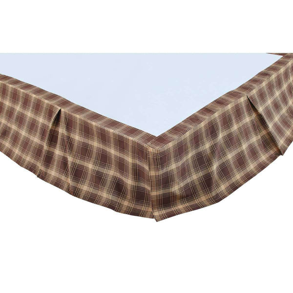 Dawson Star Bed Skirts Woodland Brown, Khaki VHC Brands - The Fox Decor