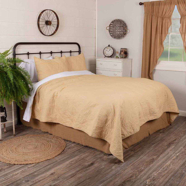 Harbour Sand King Quilt 105Wx95L VHC Brands