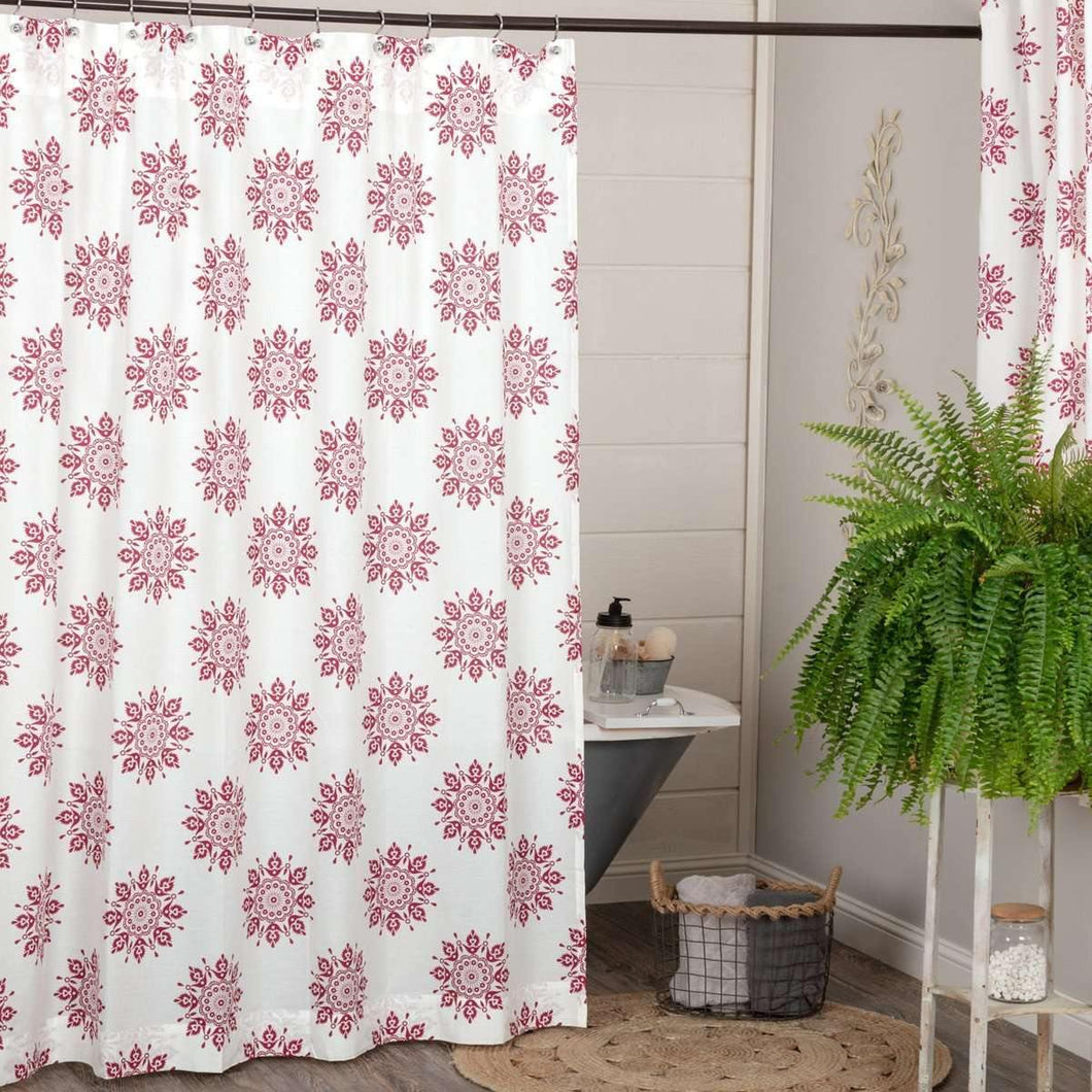 Mariposa Fuchsia Shower Curtain 72
