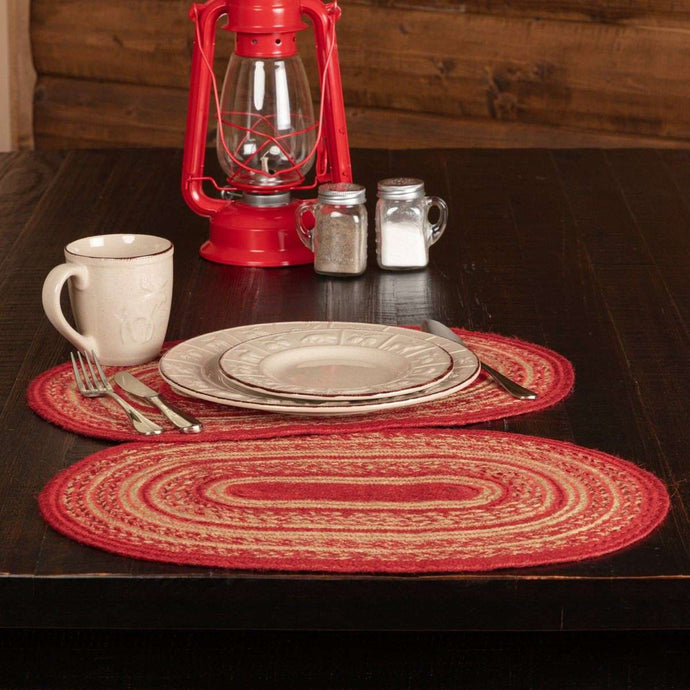 Cunningham Jute Braided Placemat Set of 6 - The Fox Decor