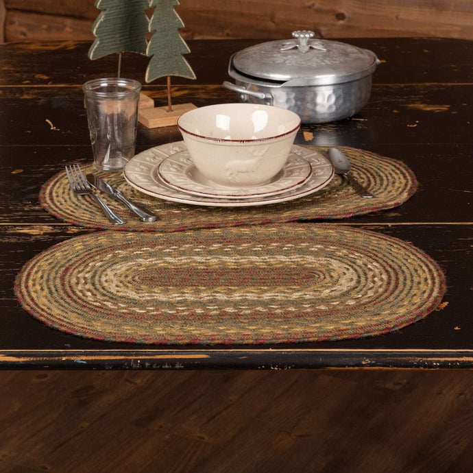 Tea Cabin Jute Braided Placemat Set of 6 - The Fox Decor