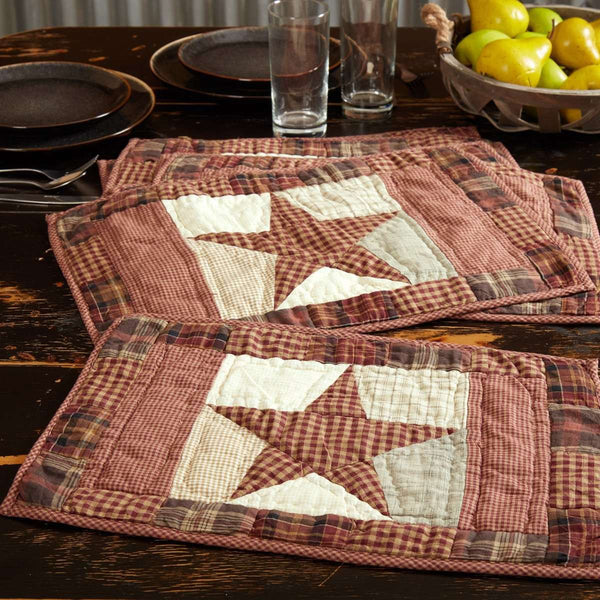 Abilene Star Quilted Cotton Placemats