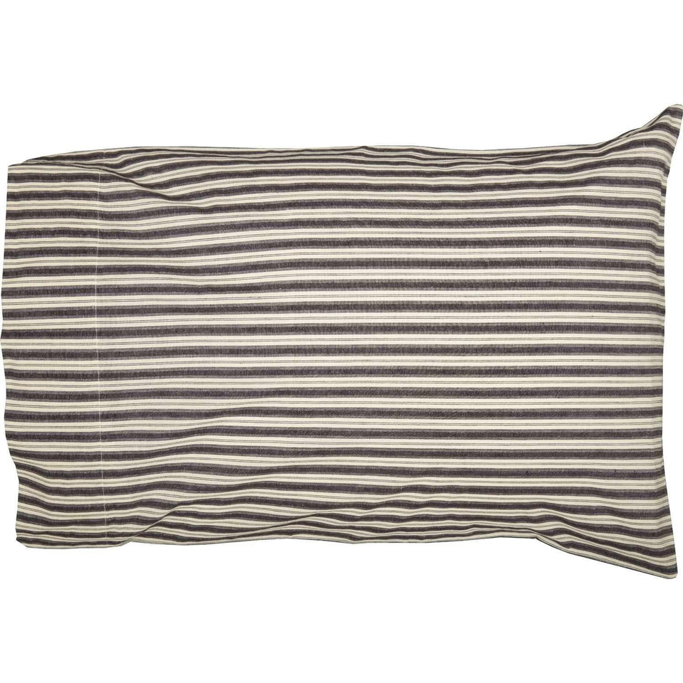 Ashmont Ticking Stripe Standard Pillow Case Set of 2 21x30 VHC Brands